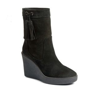 Aquatalia Viola Suede Tassel Weatherproof Boots